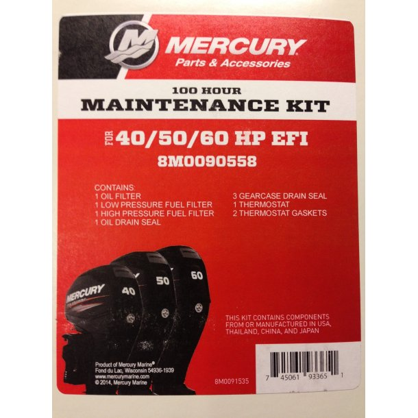 100 Hour Maintenance Kit 40/50/60 EFI