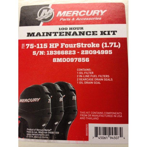 100 Hour Maintenance kit 75-115HP (1,7L)