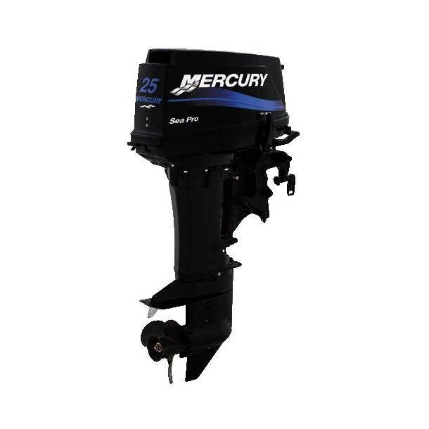 ME-S25MH - Mercury 25 hk Håndstyret, kort ben